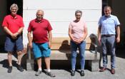 Hannes Schneider, Hubert Dreschler, Dagmar Stettner (Seniorenbeauftragte), Bürgermeister Dirk Harscher