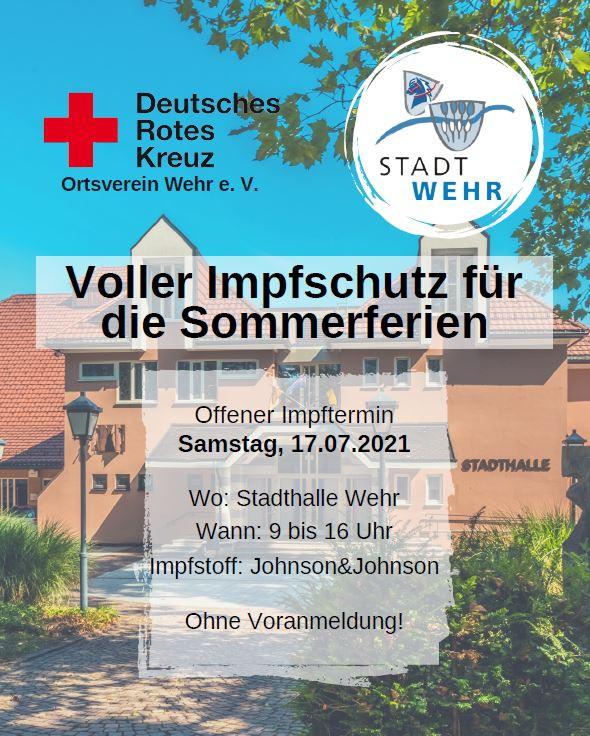 Plakat Impfentermin Wehr